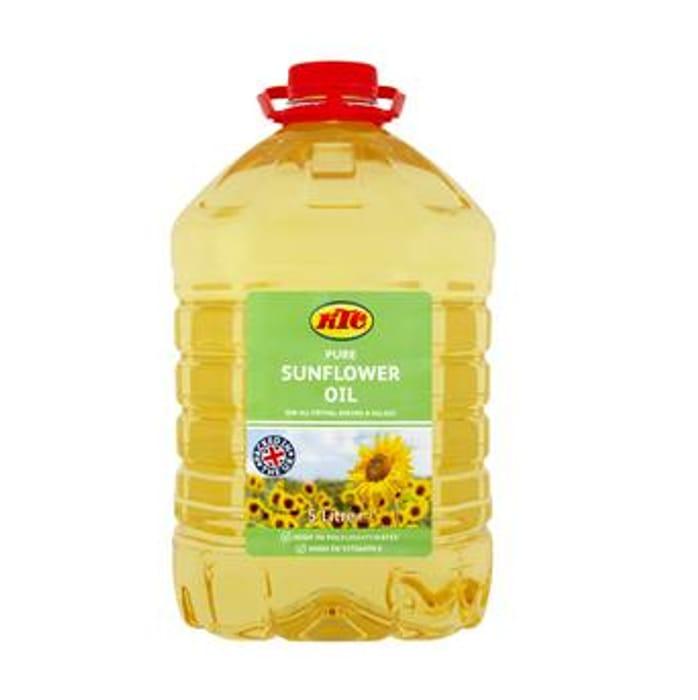 KTC Sunflower Oil 5L - Only £4!