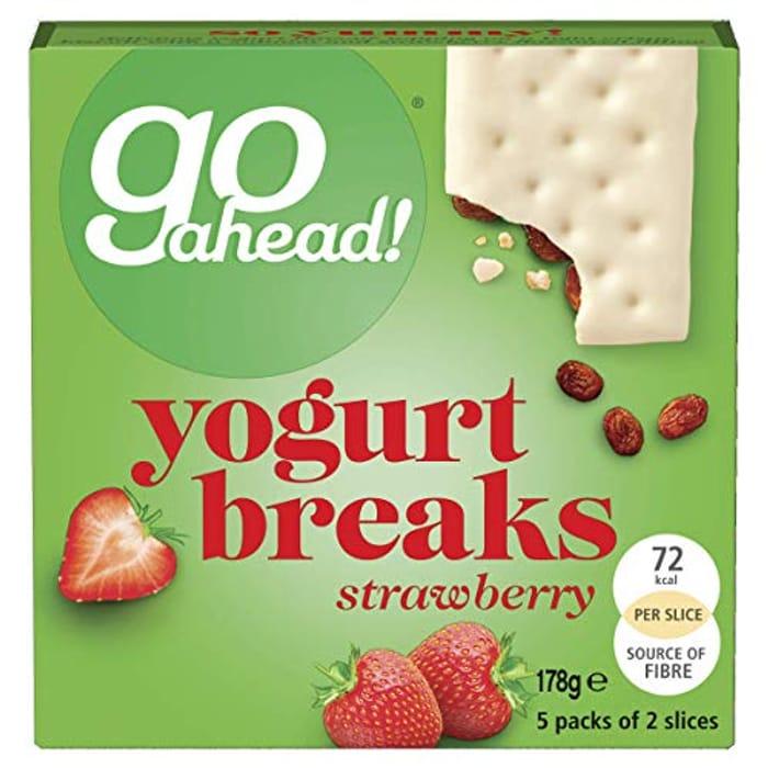 Go Ahead Yogurt Breaks Strawberry Bars, 5 X 35.5g
