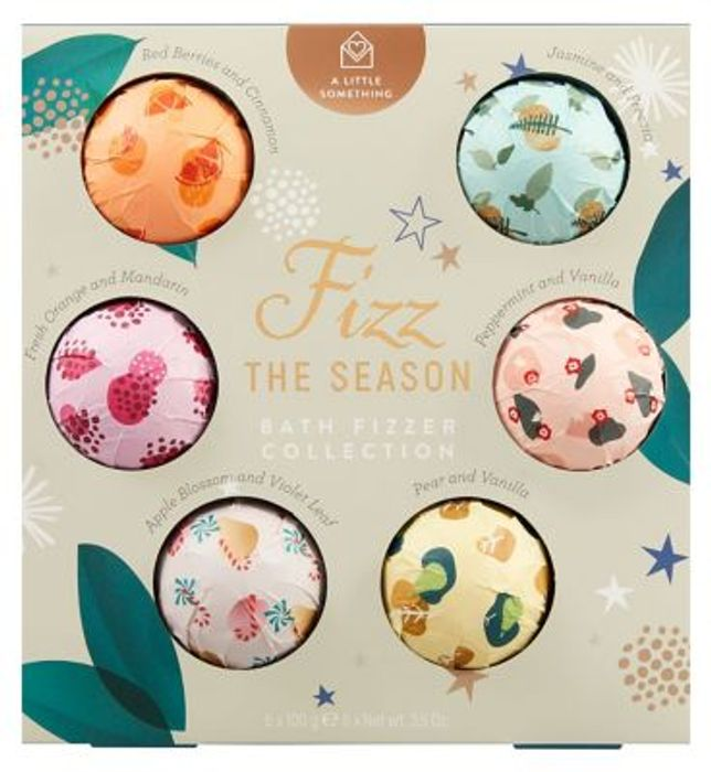 A Little Something Bath Fizzer Collection 6 Bath Bomb Gift Set