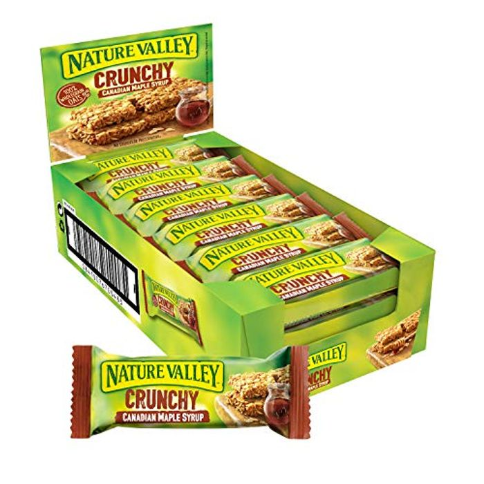Nature Valley Crunchy Canadian Maple Syrup Cereal Bars 42g (Pack of 18 Bars)