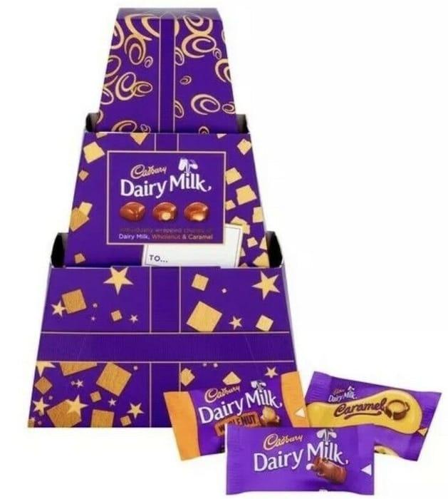 Cadbury Dairy Milk Chocolate Chunk Giftbox Stack