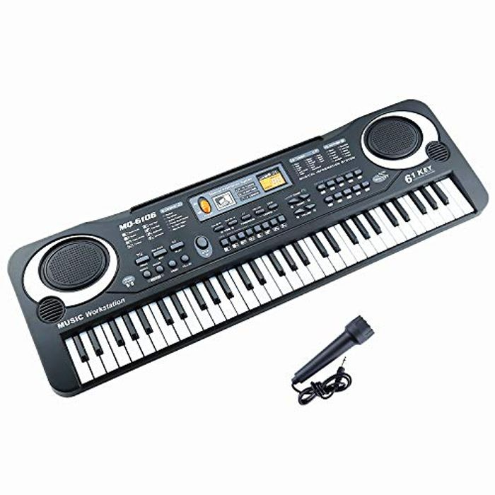 Sanlinkee 61 Keys Electronic Piano Portable Digital Music Keyboard - Only £10.8!