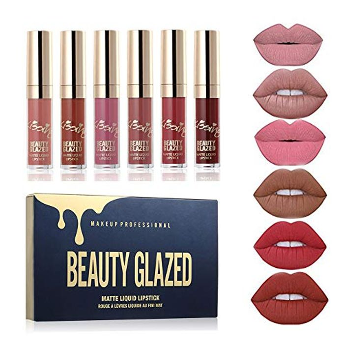 6PCS/ Lip Gloss Liquid Lipstick Long Lasting Moisturizer Professional