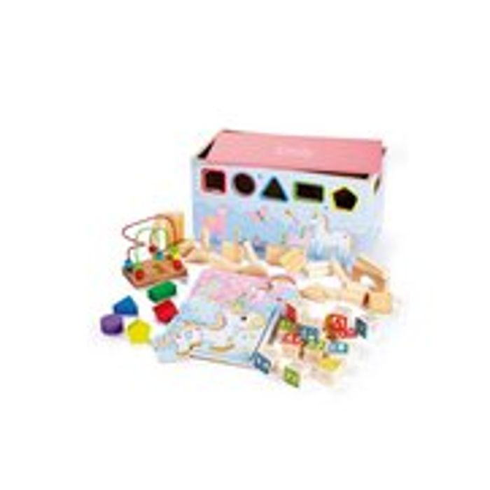 Personalised 6-in-1 Unicorn Activity Trunk