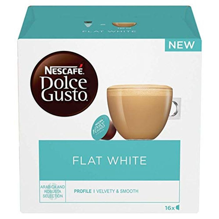 NESCAF Dolce Gusto Flat White Coffee Pods - 16 Capsules * 3 Pack