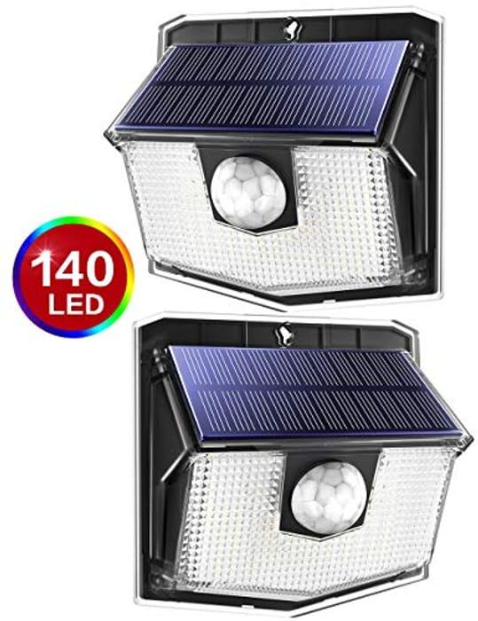 140 LED Solar Lights Outdoor Motion Sensor Security Light with 3 Lighting Modes