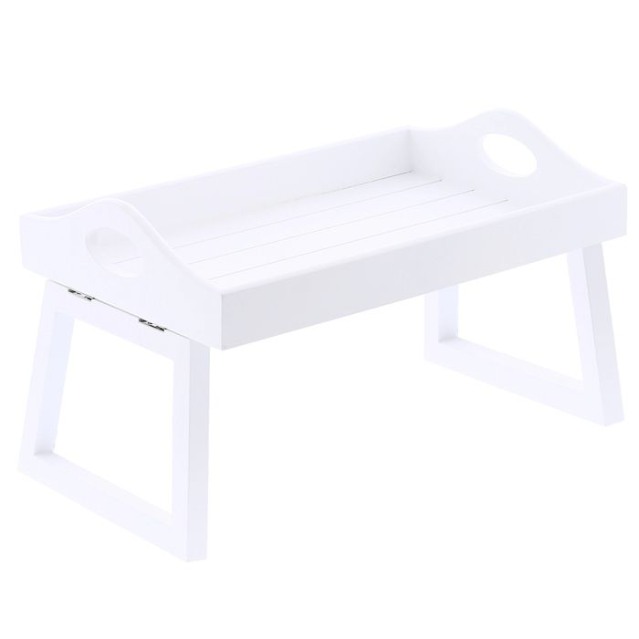 Home Collections White Wooden Sofa Tray  £2.99