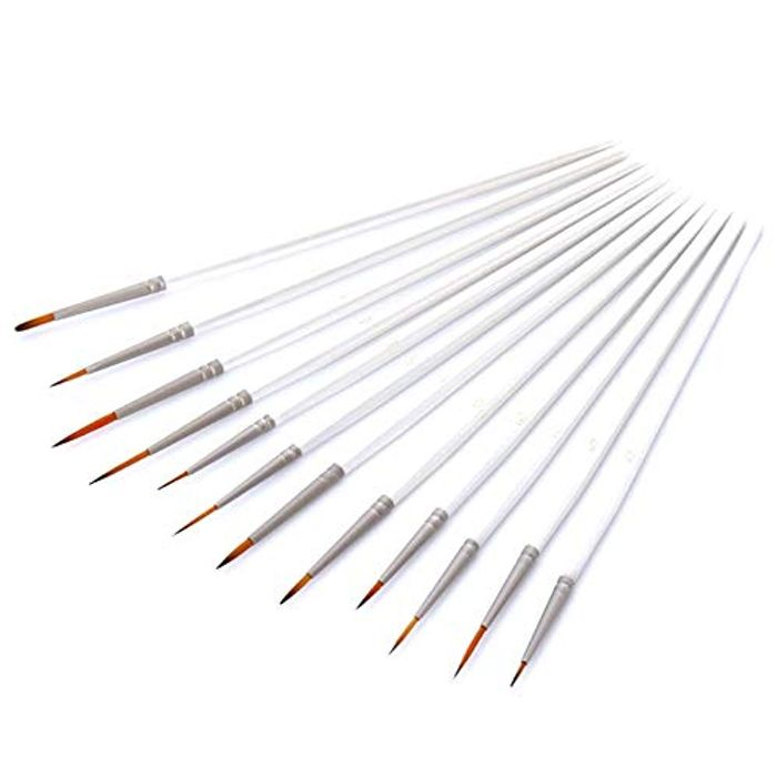 12 PCS Paint Brushes Set Nylon Hair Brush (80% voucher)