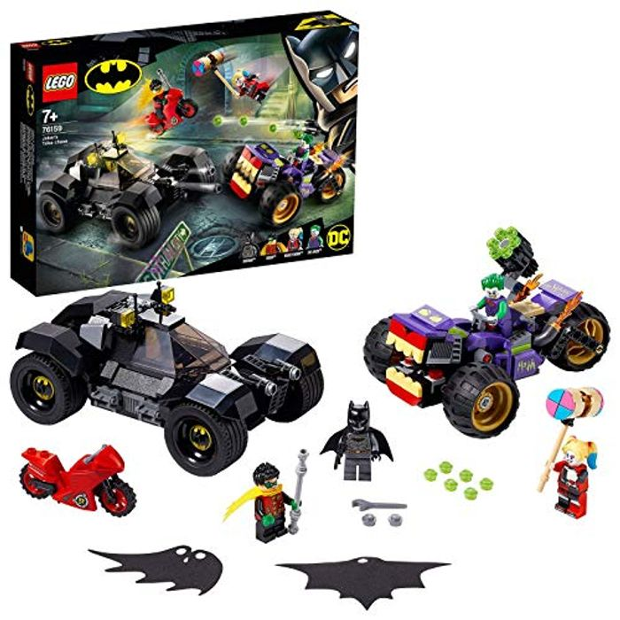 BEST EVER PRICE! LEGO 76159 DC Batman Joker's Trike Chase with Batmobile