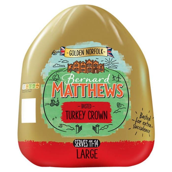 Bernard Matthews Golden Norfolk Basted Turkey Crown Large