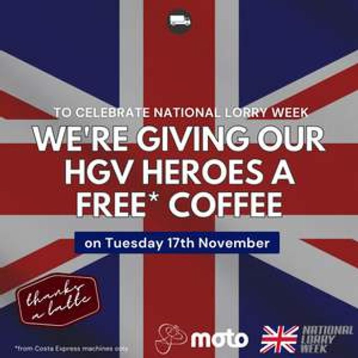 Today Only *** Free Costa Coffee for HGV Drivers