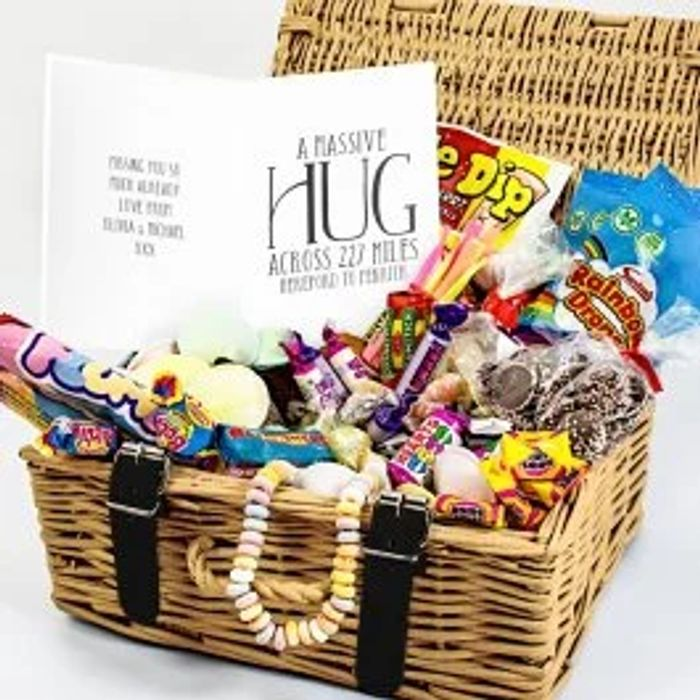 Personalised Retro Sweet Hamper - Massive Hug