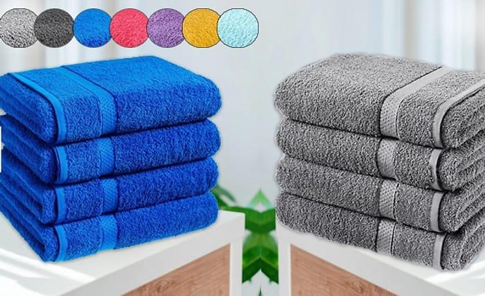 4 Jumbo Egyptian Cotton Bath Sheets - 13 Colours - £17.69 Delivered