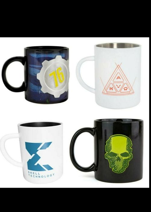 Assorted Official Gaming Ghost Recon/fallout 76/ Anthem Ceramic and Steel Mugs