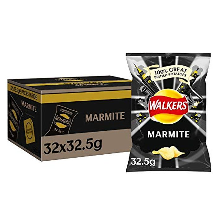 Walkers Marmite Crisps Box, 32.5 G (Case of 32)