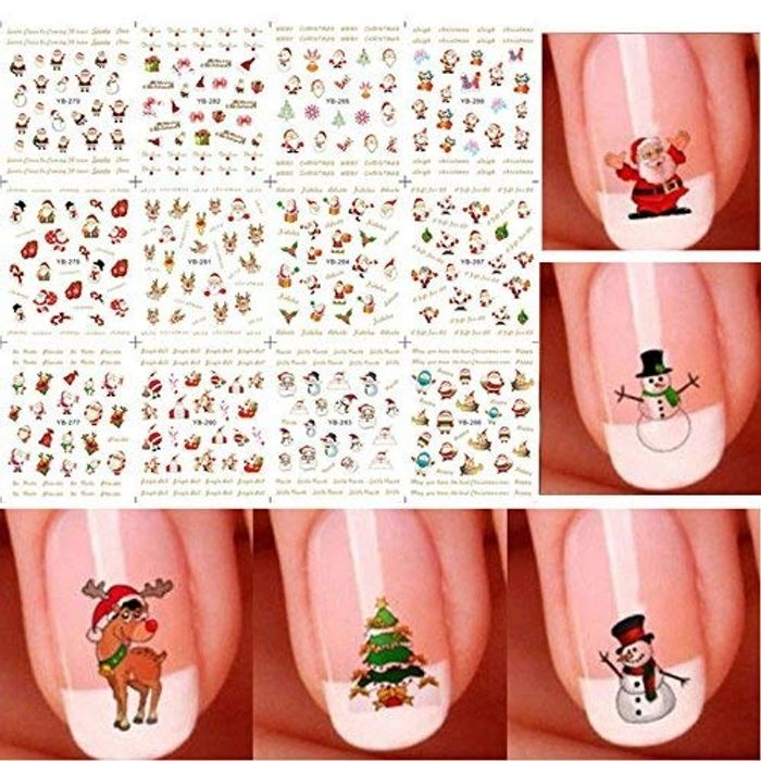Christmas 3D Nail Art Stickers - Only £1.5!