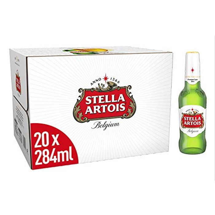 Stella Artois Premium Lager Beer Bottles, 20x284ml - Only 44p per Bottle