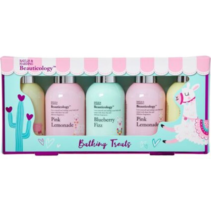 BAYLIS & HARDING Llama Print Five Bottle Bathing Set