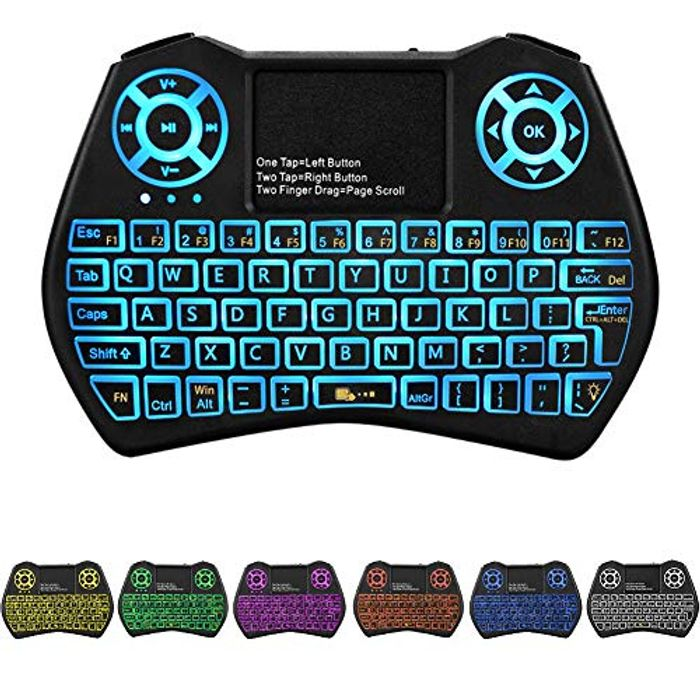 Lightning Deal! USB Mini Wireless Keyboard with Touchpad