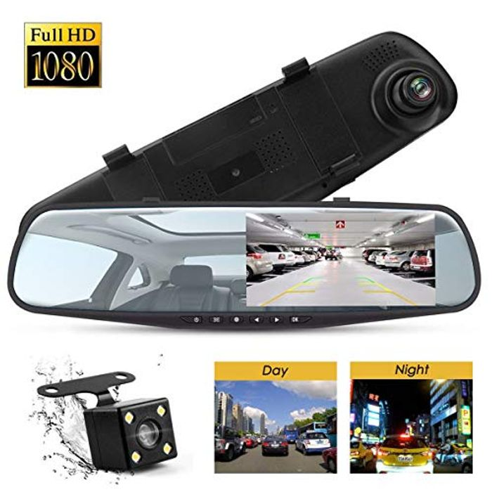 "Price Drop! Topsale-Ycld Car Mirror Dash Cam Recorder 4.3"" Full HD 1080P"