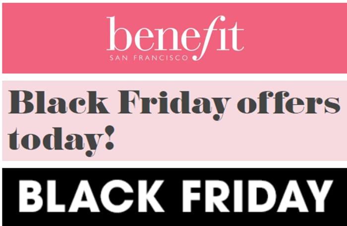Benefit Cosmetics - BLACK FRIDAY SALE - 10% 20% 30% OFF