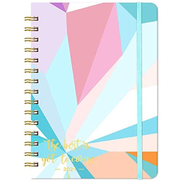 2021 Diary - Weekly & Monthly Diary with Tabs