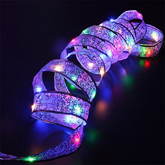 Christmas Decoration Light up Ribbon 4m