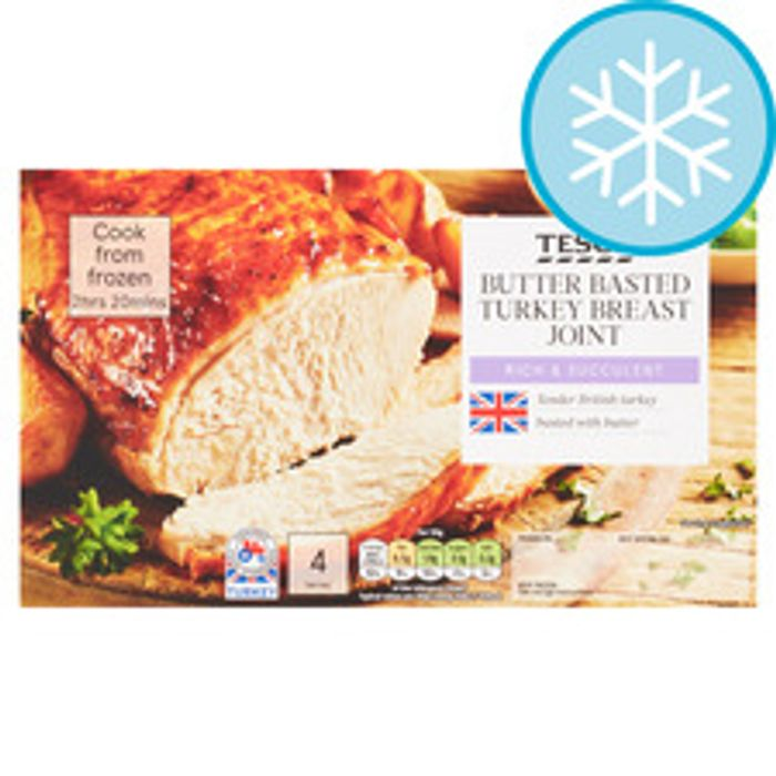 Tesco Butter Basted Frozen Turkey Breast Joint 780G
