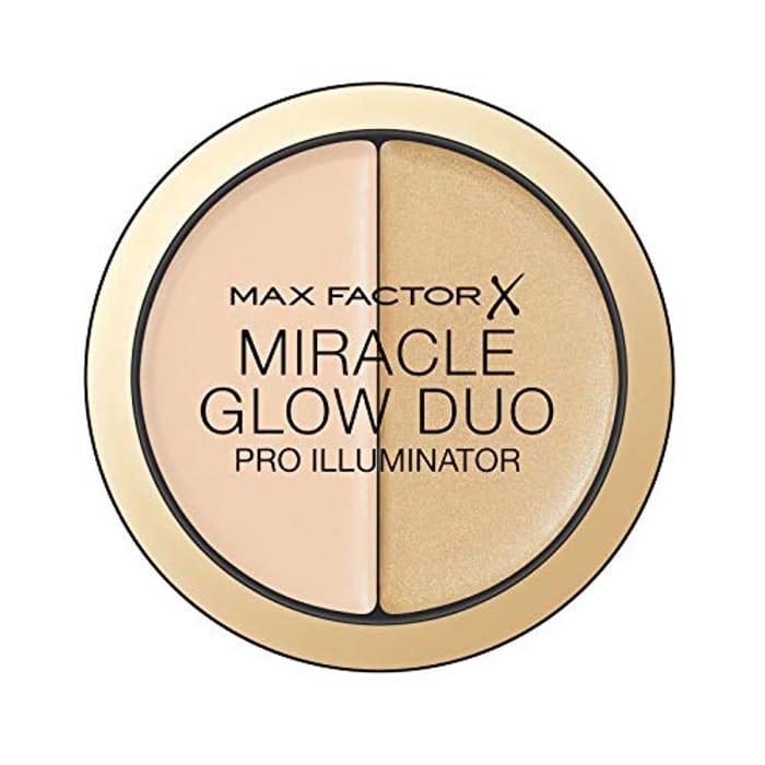 Max Factor Miracle Glow Duo Pro Illuminator, Creamy Highlighter, 10 - Light