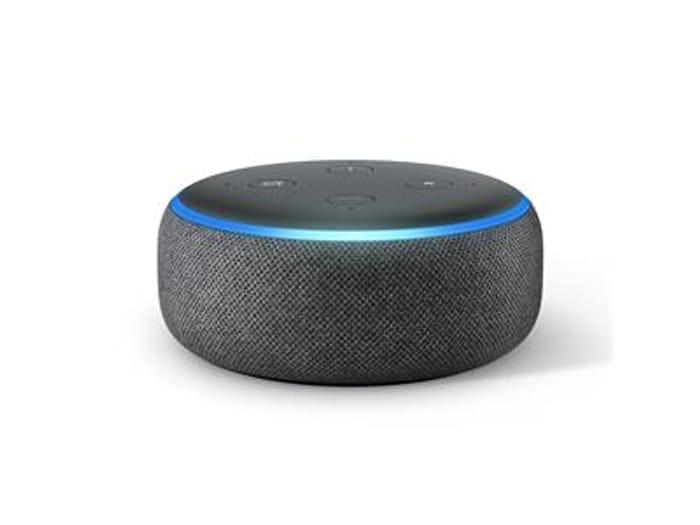 Amazon Echo Dot (3rd Gen) - Charcoal Fabric - £18.99