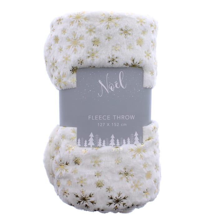 Noel Fleece Throw- White   (also available in grey & navy, links below)