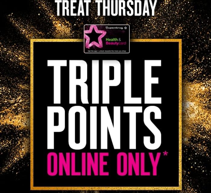 Earn Triple Points Online at Superdrug