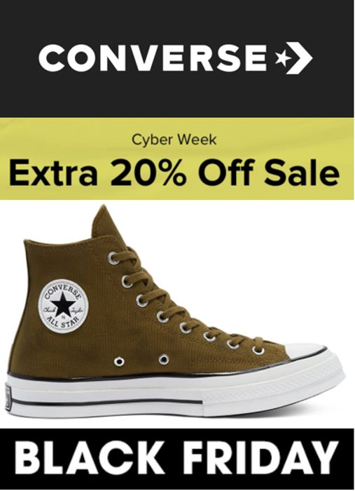 CONVERSE - BLACK FRIDAY / Cyber Week - EXTRA 20% OFF THE SALE PRICES