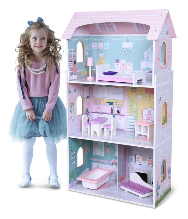 CHEAP! WOODEN DOLLS HOUSE SET - £49.99 - Perfect Xmas Present!