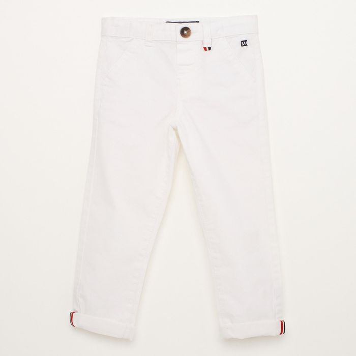 Cheap Maine New England - Boys' White Chino Trousers with 50% Discount!