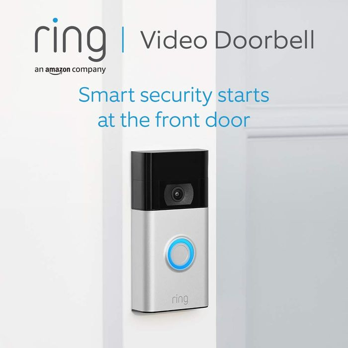 *SAVE £30* All-New Ring Video Doorbell 1080p HD Video, Motion Detection,
