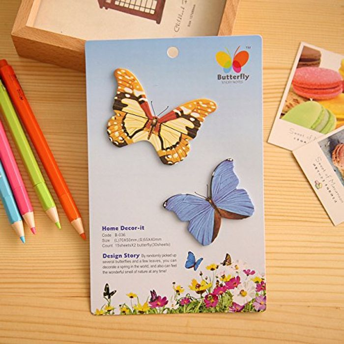 Cute Butterfly Sticky Notes