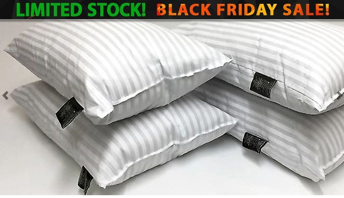 Hotel-Quality Stripe Pillows + EXTRA 10% Off