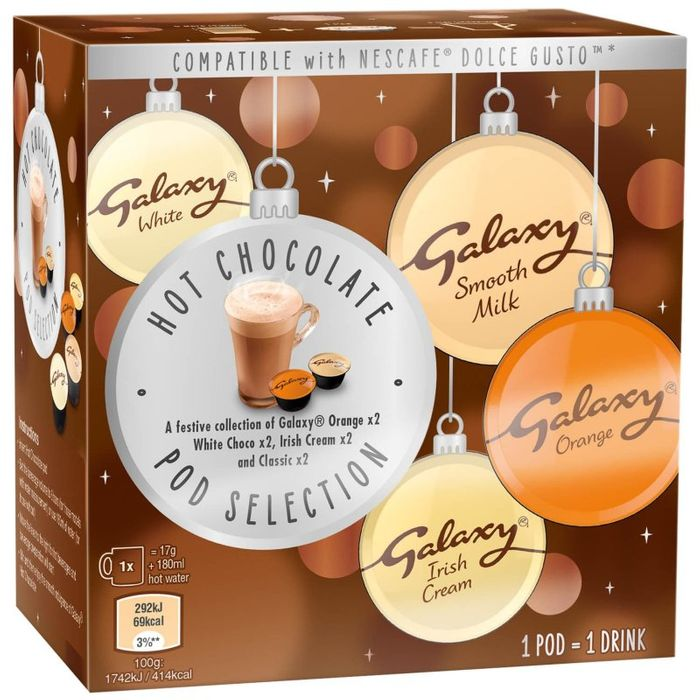 Galaxy Hot Chocolate Pod Selection 8pk