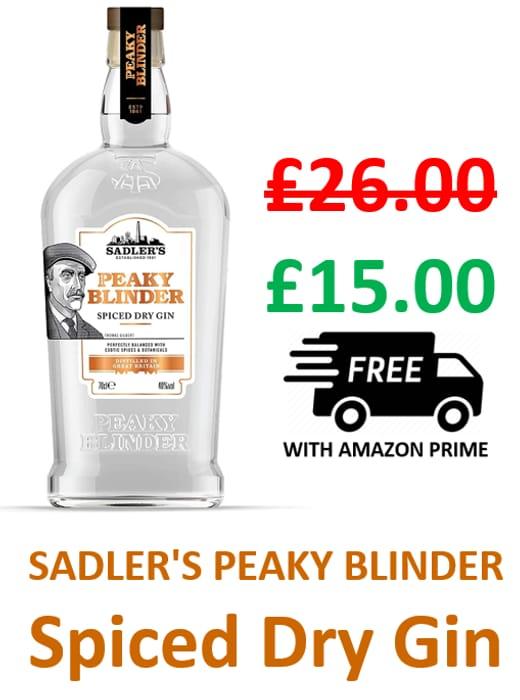 GOING CHEAP! Sadler's PEAKY BLINDER Spiced Dry Gin