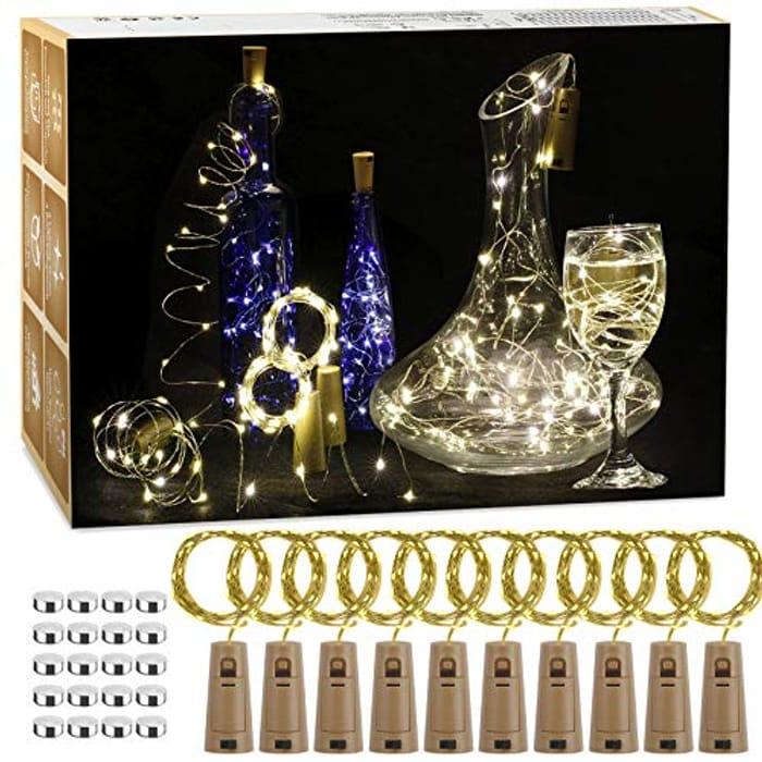Pack of 12 LED Bottle Lights 2M
