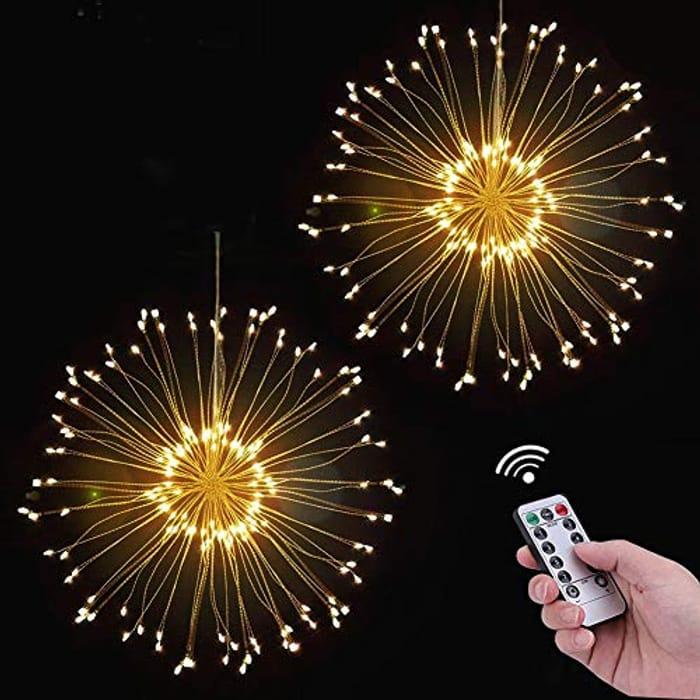 Lightning Deal! 120 LED Firework Fairy Light, Battery Powered