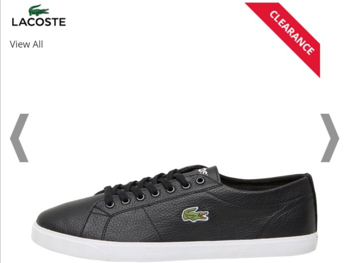 Lacoste Mens Riberac Leather Trainers Black Size 7