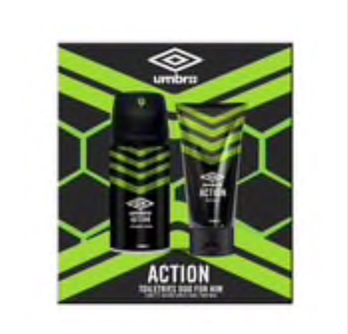 Cheap Umbro Action & Umbro Ice Body Wash & Body Spray Set - Save £4.01