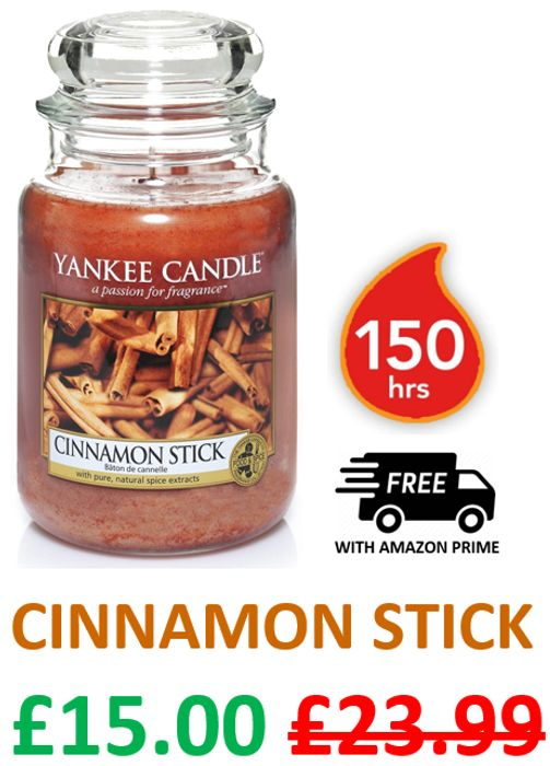 Yankee Candle Large Jar Scented Candle | CINNAMON STICK