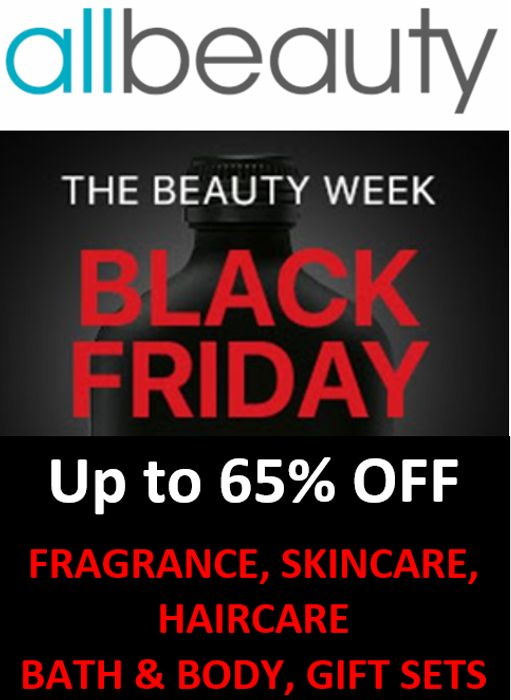 AllBeauty - BLACK FRIDAY - BEAUTY DEALS - save up to 65%