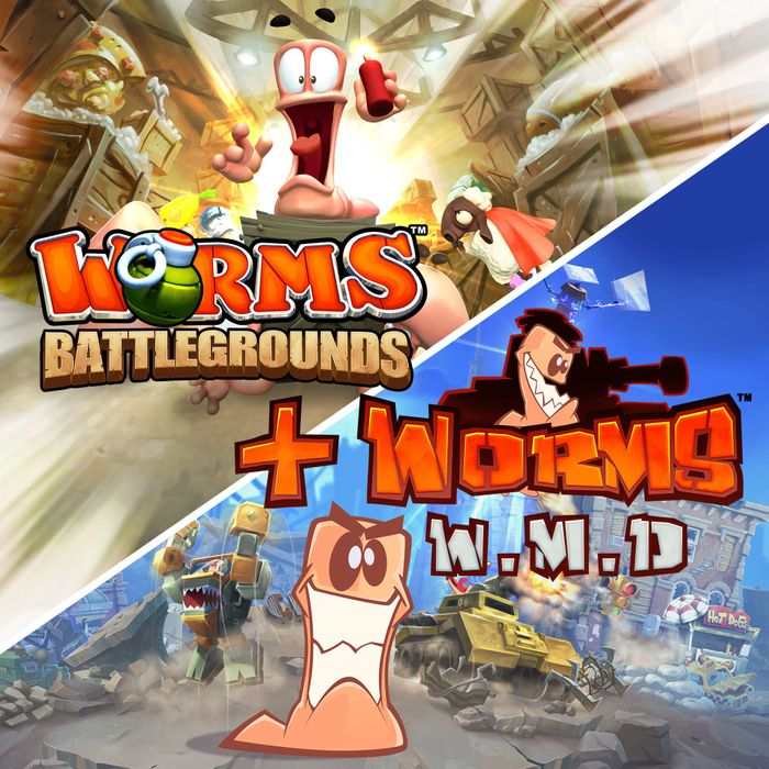 Worms Battlegrounds + Worms W.M.D - PS4