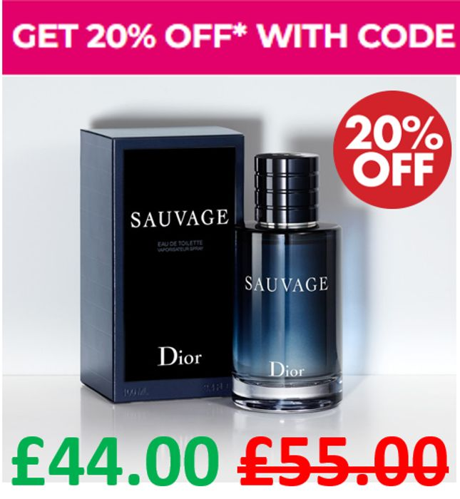 Get 20% off - DIOR SAUVAGE! and FREE DELIVERY