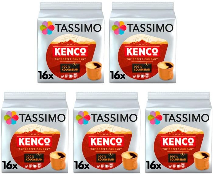 Tassimo Kenco Colombian Coffee Pods - Total 80 Pods **4.8 STARS**