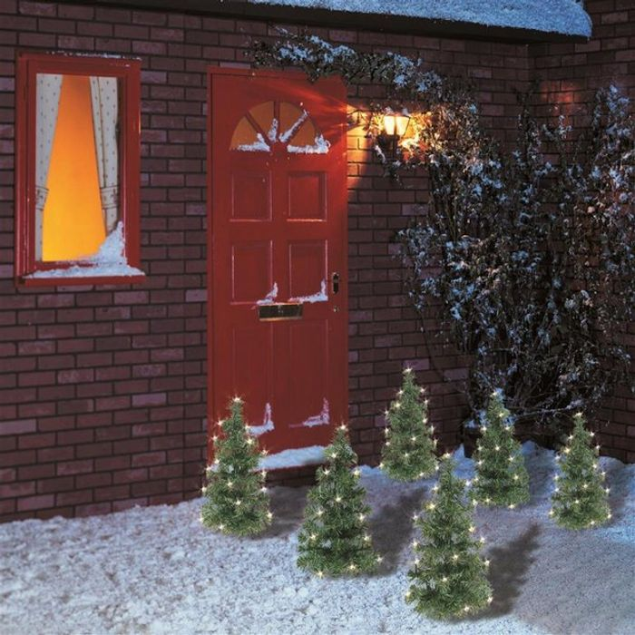 Premier Decorations Set of 6 LED Tree Path Lights - Warm White